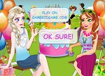 Dress Up Games :: Anna and Elsa Chit Chat